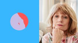 Une femme Senior inquiète et penseuse.